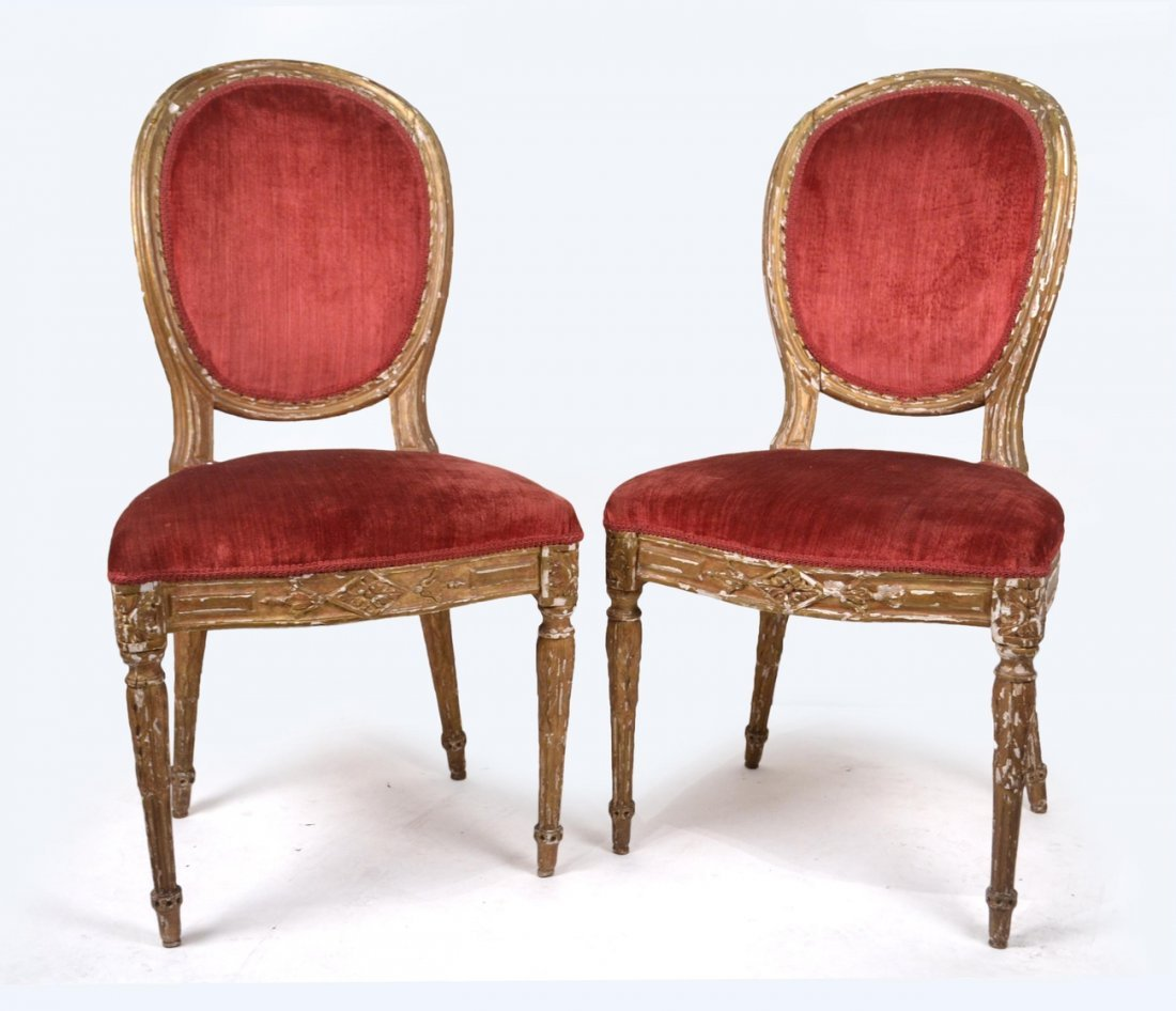 Pair of 19th C. French Side Chairs