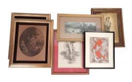 Assorted Framed Art Six Items