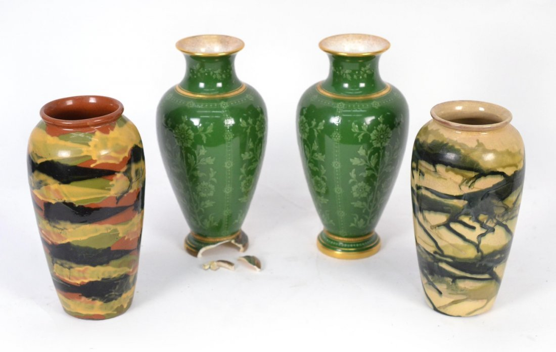 Two Pairs of Ceramic Vases