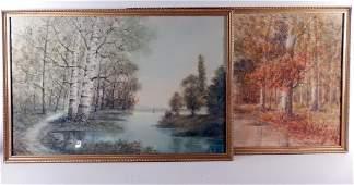 Raphael Senseman, Pair of Landscapes