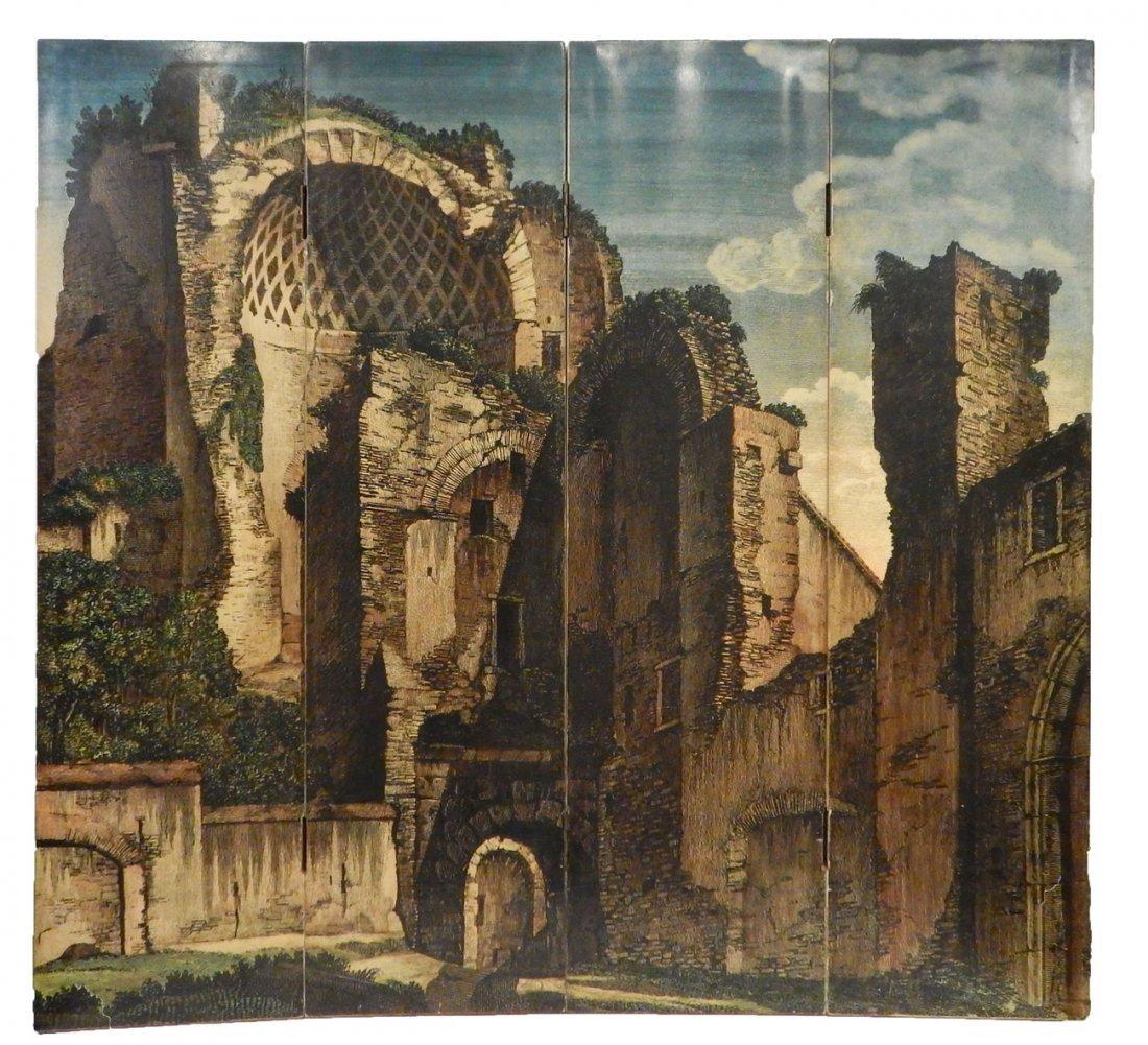 Piero Fornasetti - Wood Folding Screen