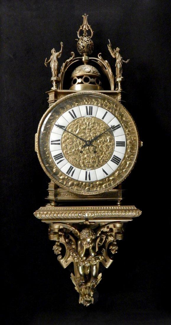 19th Century Tiffany & Co. Bronze Wall Clock