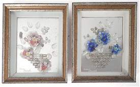 Two Glass Framed Still Lifes
