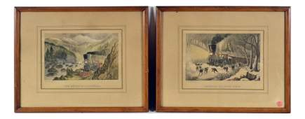 Pair of Vintage Railroad Prints