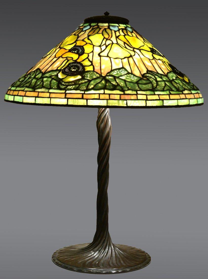 "Tiffany Studios ""Poppy"" Lamp"