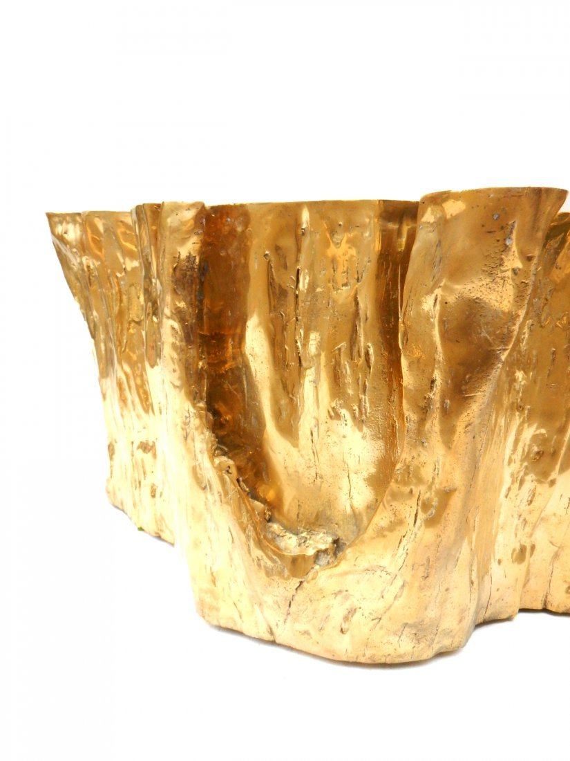 """""""Kailash"""" Brass Cocktail Table by Chista - 10"""