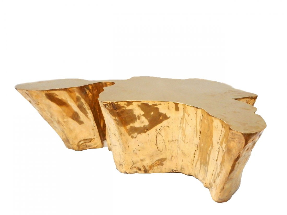 """""""Kailash"""" Brass Cocktail Table by Chista - 3"""