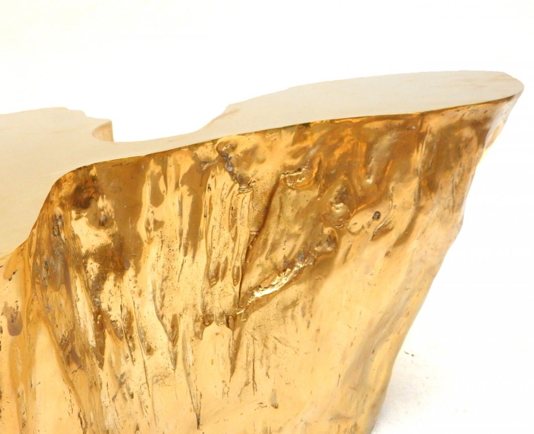 """""""Kailash"""" Brass Cocktail Table by Chista - 8"""