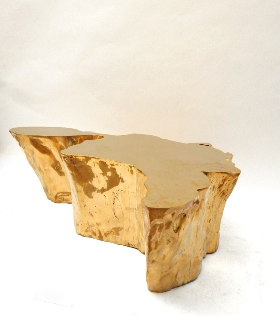 """""""Kailash"""" Brass Cocktail Table by Chista - 9"""