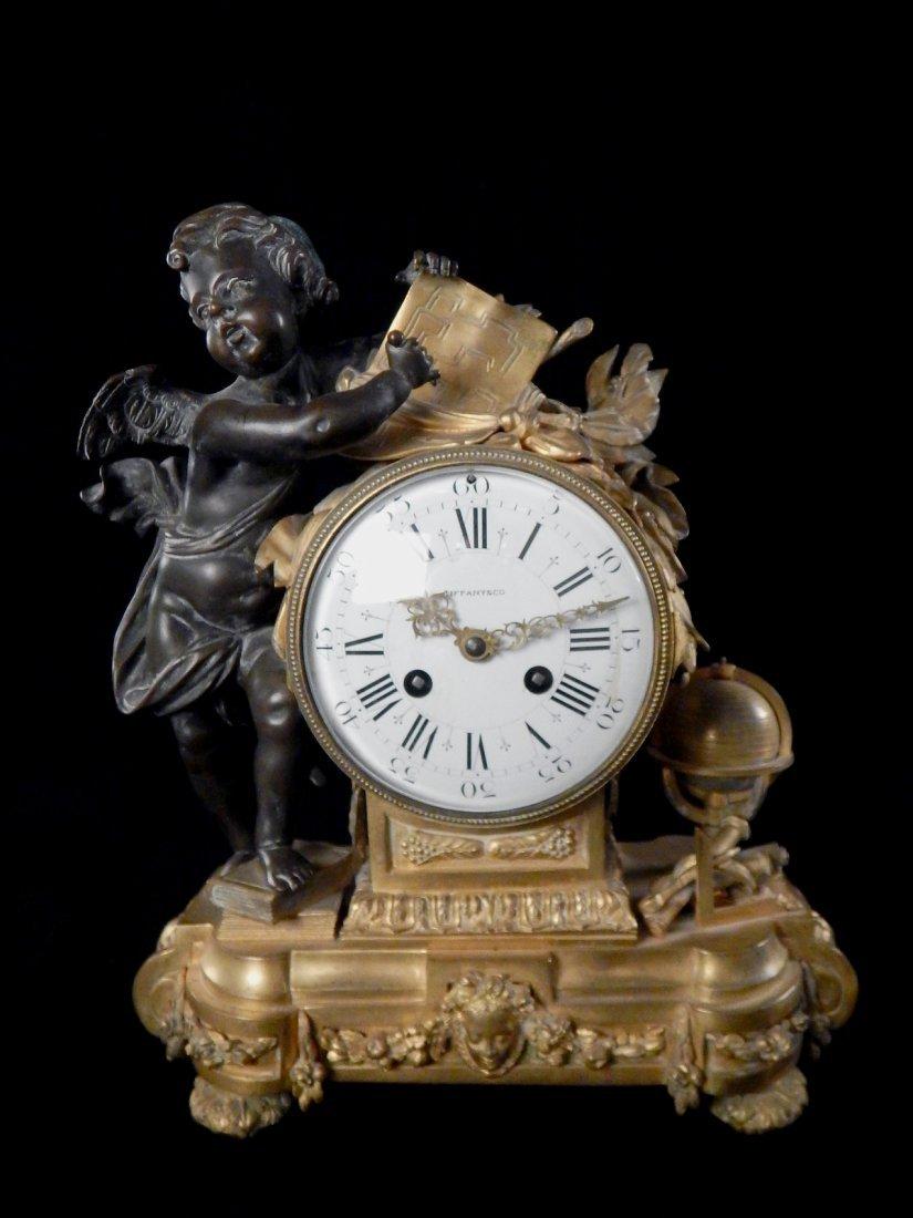 Tiffany & Co. Bronze Cupid Clock
