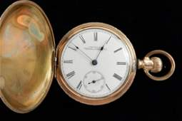 American Waltham 14k Gold-Plated Pocket Watch