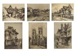 Six Edward Cherry Etchings