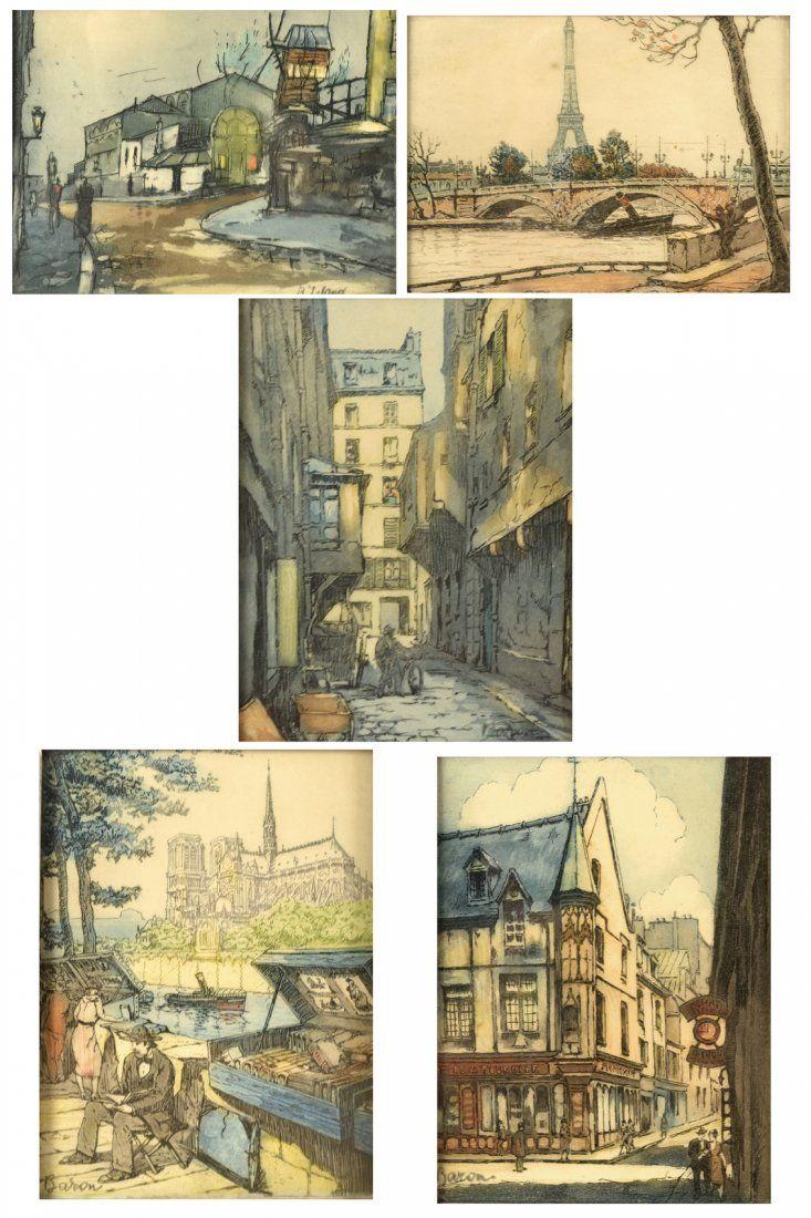 Group of Five European Scenes