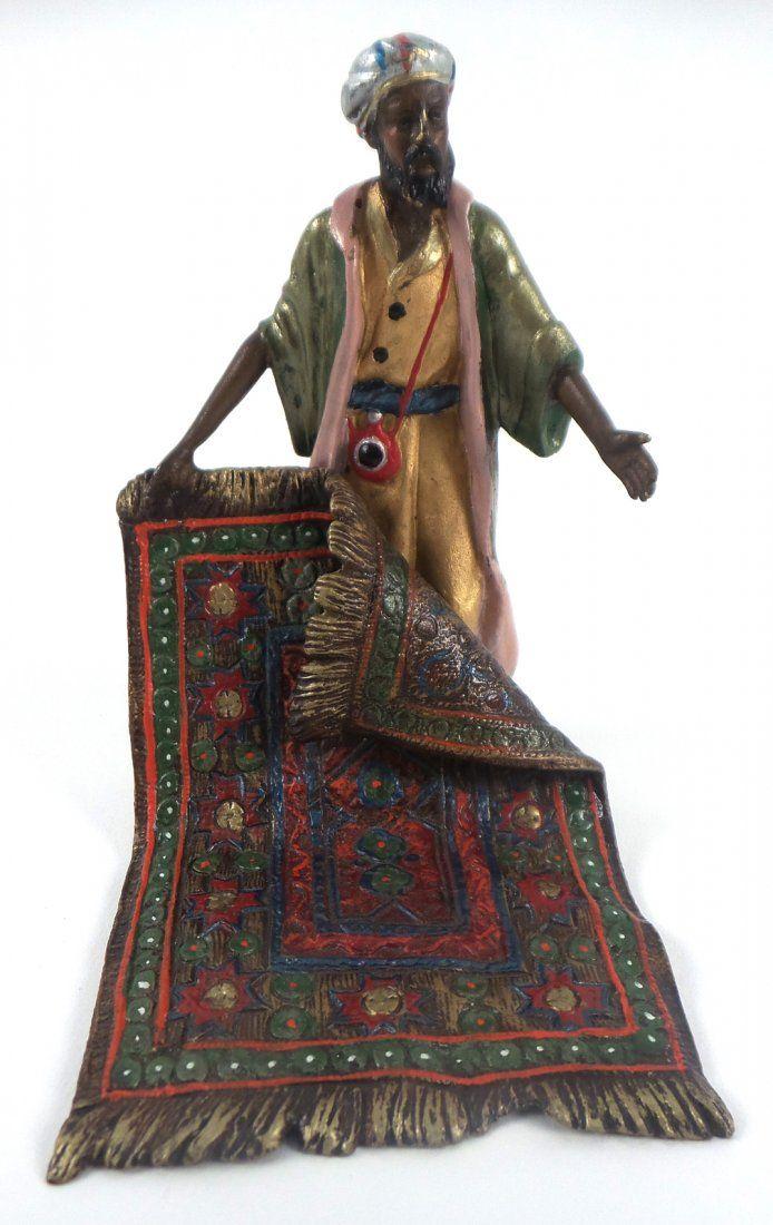 After Carl Kauba, Bronze Carpet Seller