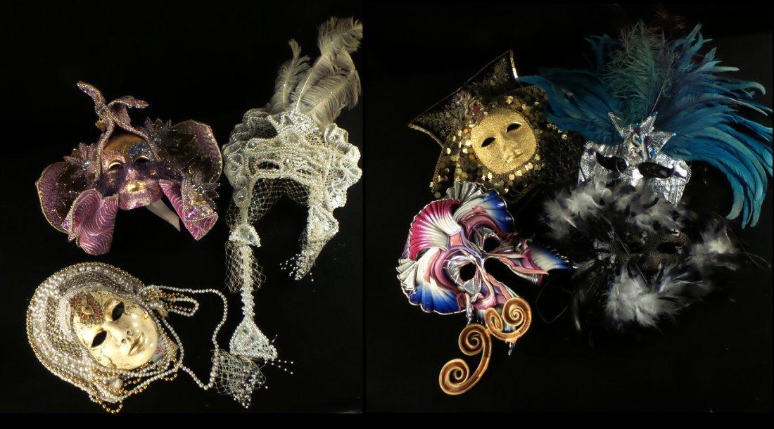 Nine Elaborate Carnival/Masquerade Masks