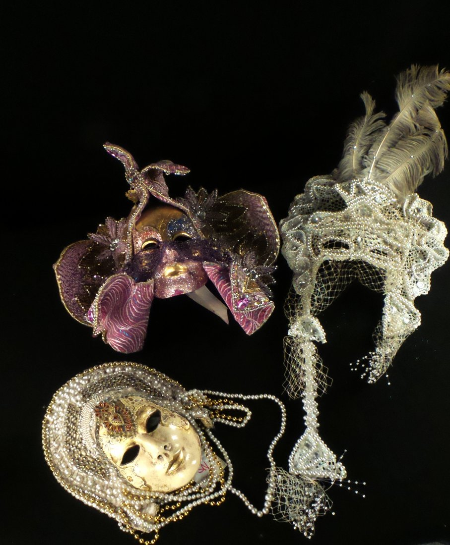 Nine Elaborate Carnival/Masquerade Masks - 5