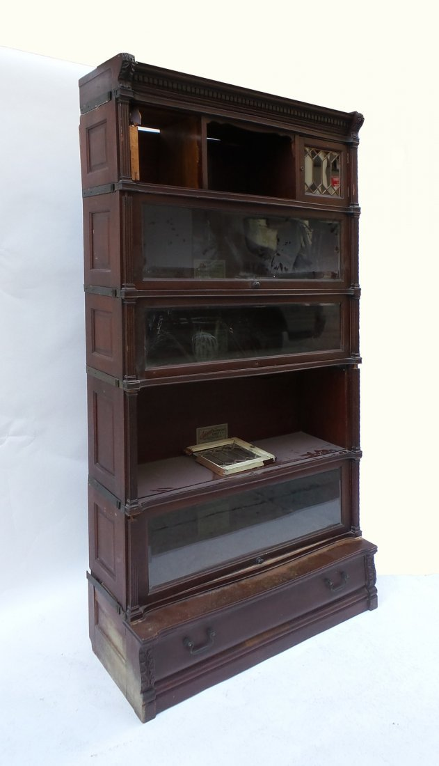Five Stack Lawyers Bookcase by IDEAL - 2