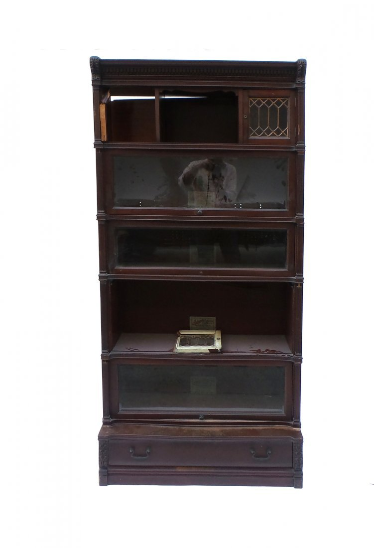 Five Stack Lawyers Bookcase by IDEAL - 3