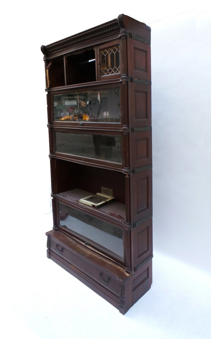 Five Stack Lawyers Bookcase by IDEAL - 7