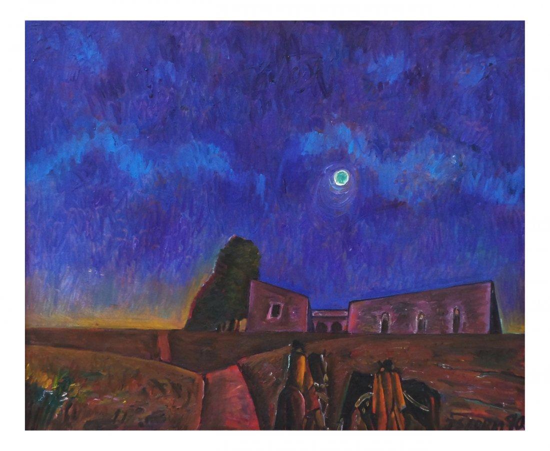 Juan Storm, Oil on Canvas - Village