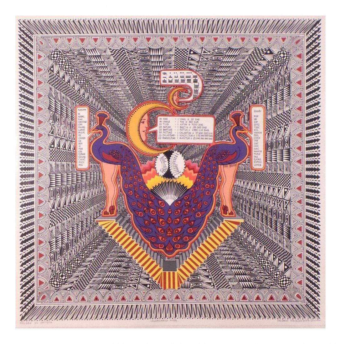 Calendario 1936.Pedro Friedeberg Calendario Maya