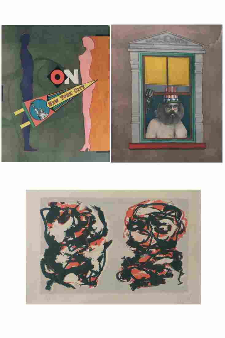 3 Assorted Print Lithographs