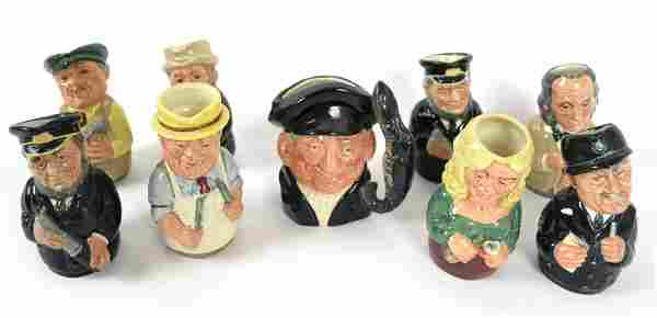 "Nine Royal Doulton ""Doultonville"" Mugs"