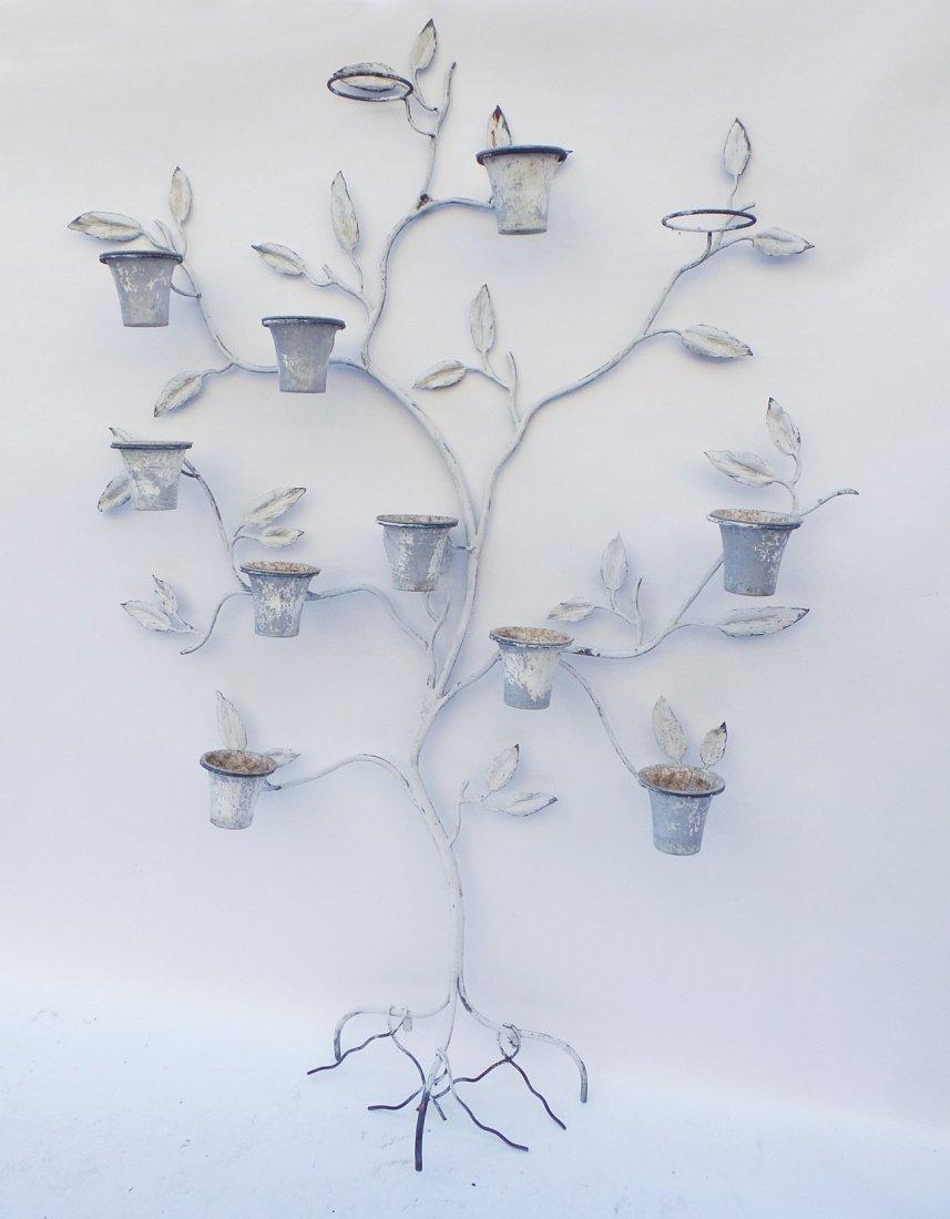 Iron Tree-Form Planter