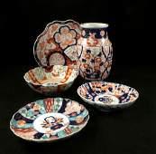 Five Imari Porcelain Table Articles