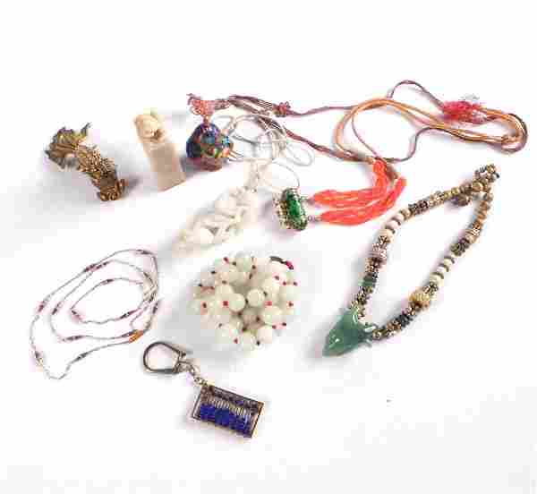 Five Chinese Pendant Necklaces, more