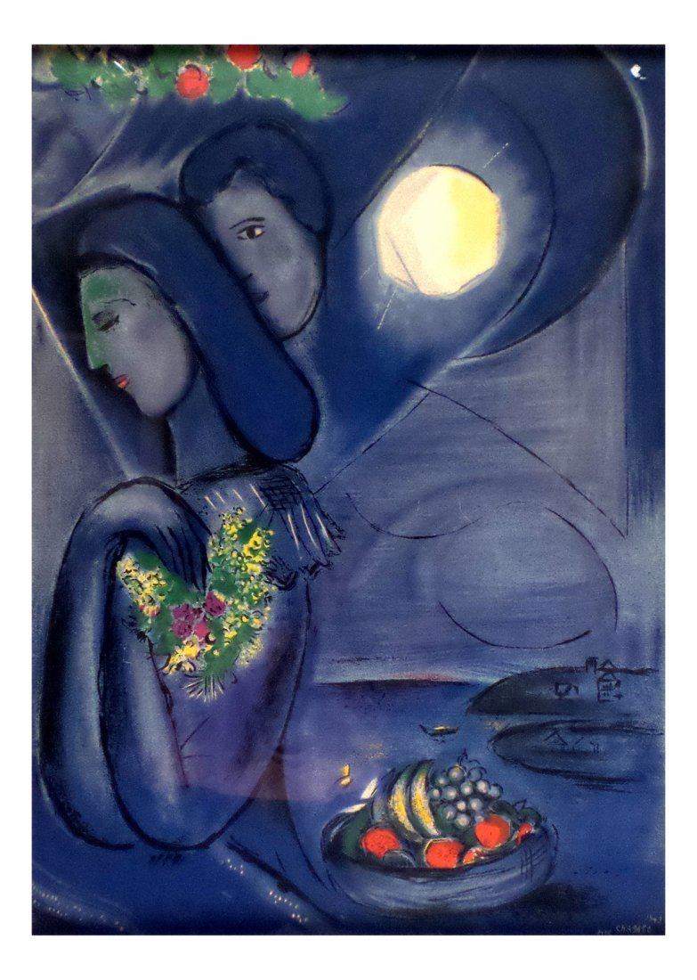 Marc Chagall, Lithograph of a Couple
