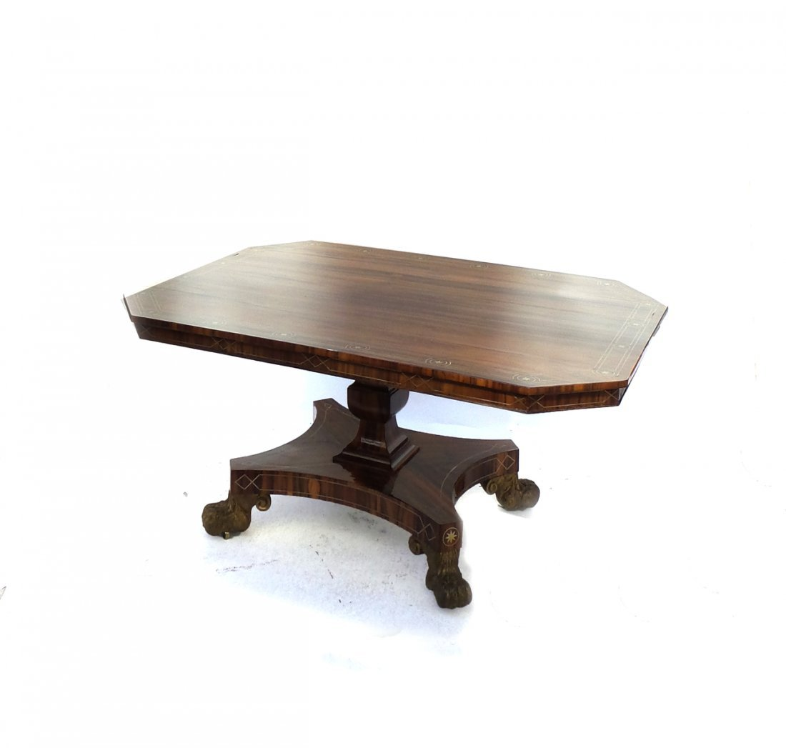 Regency Exotic Wood Breakfast Table