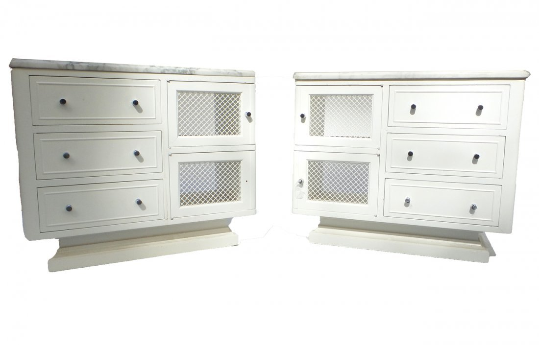 Opposing Pair of Side Cabinets