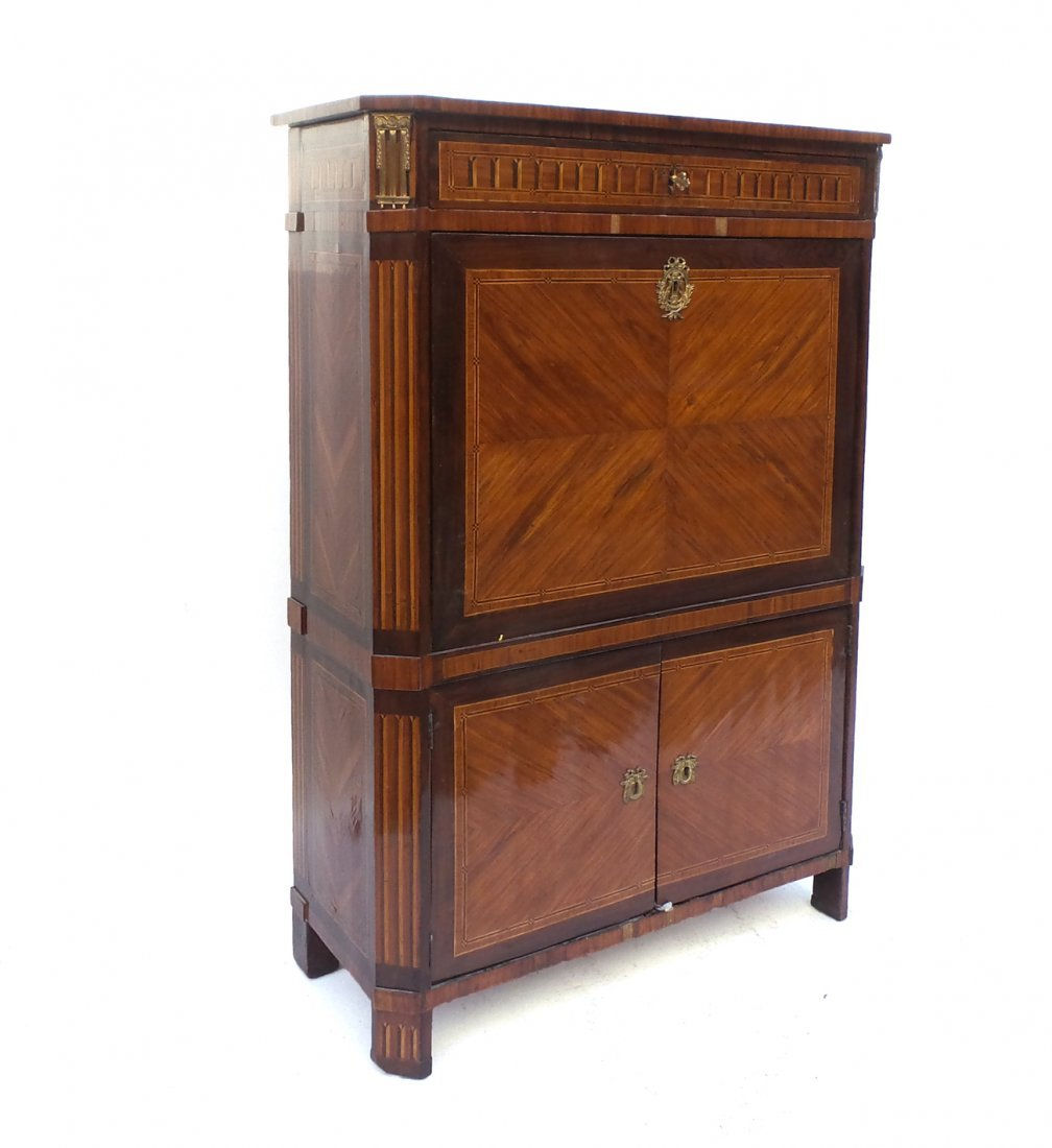 French Inlaid Abattant Desk