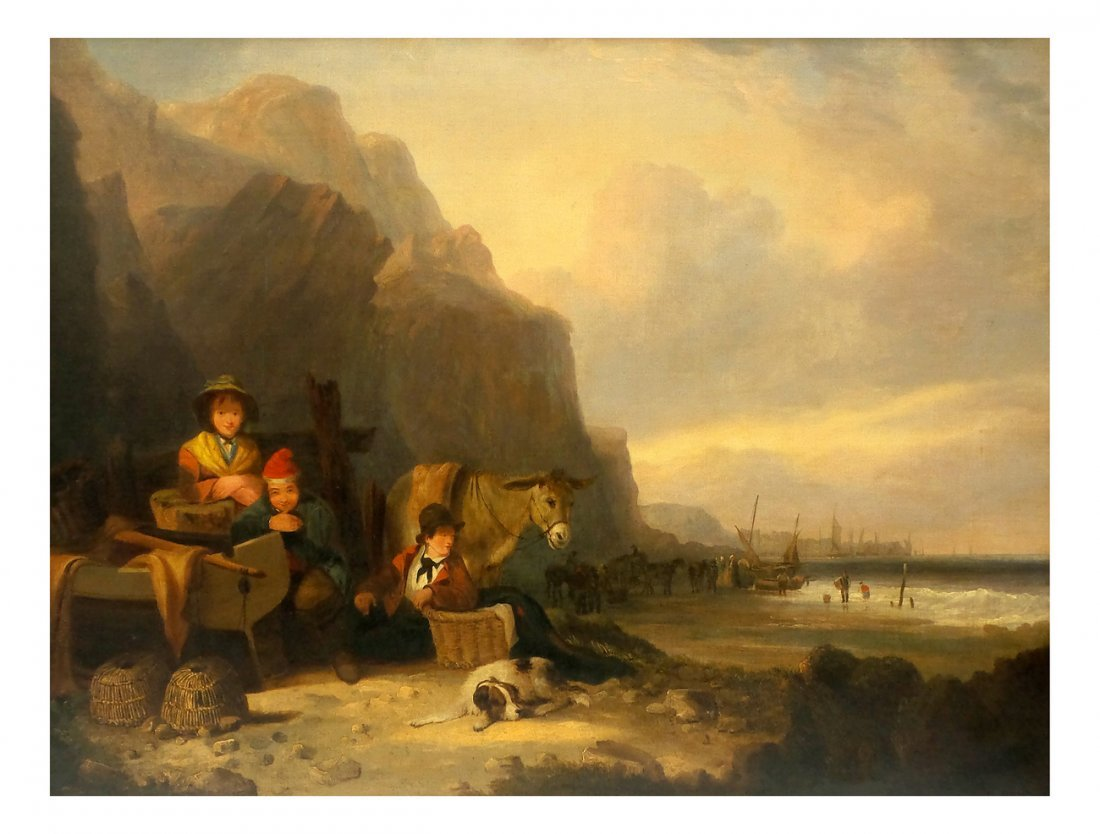 Attr. to William Shayer, Coastal Scene
