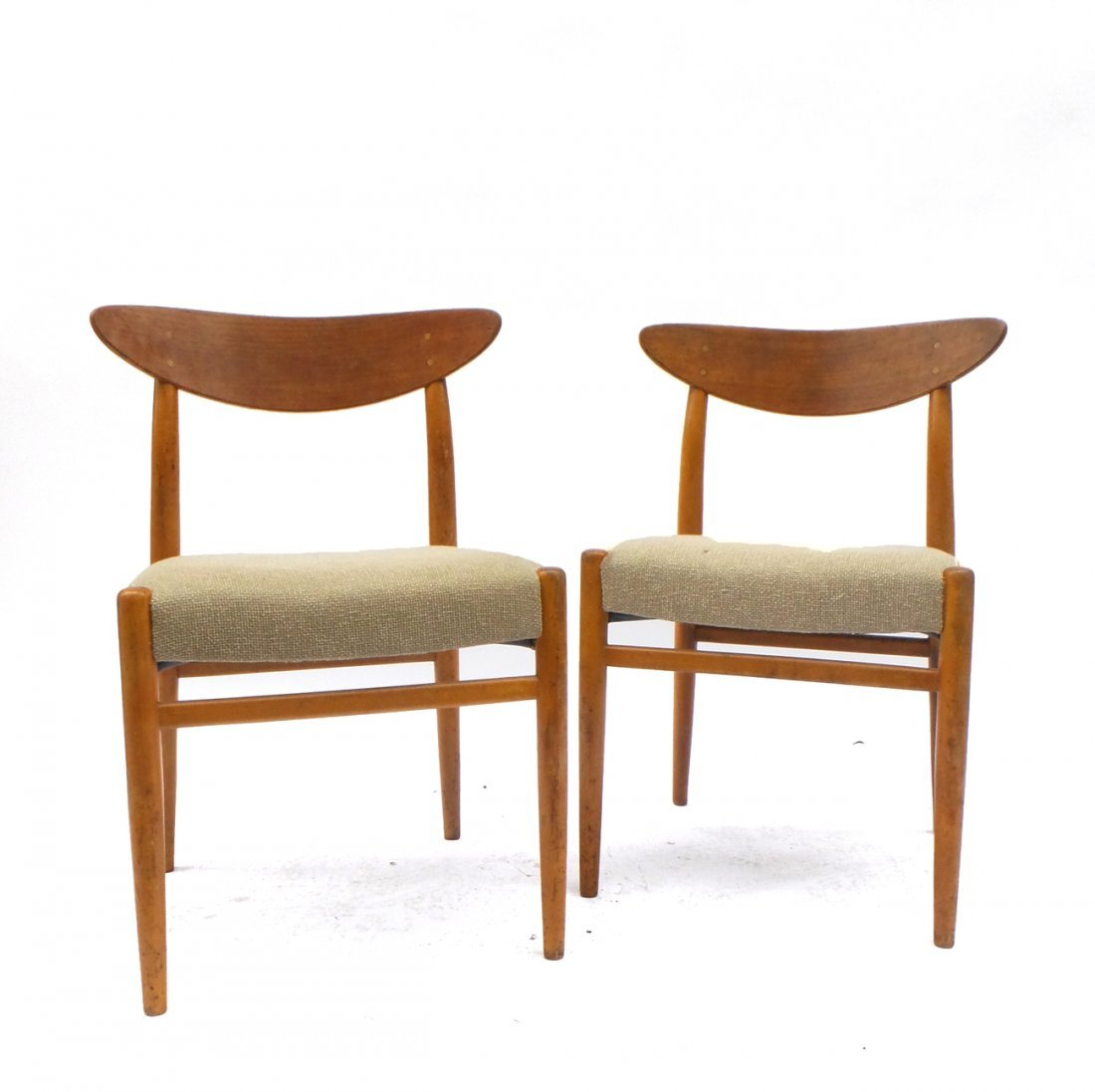 Pair of Hans Wegner-Style Side Chairs