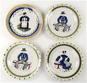 Four Henriot Quimper Plates