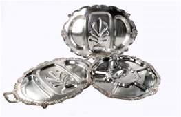 Silver Plate Three Trays