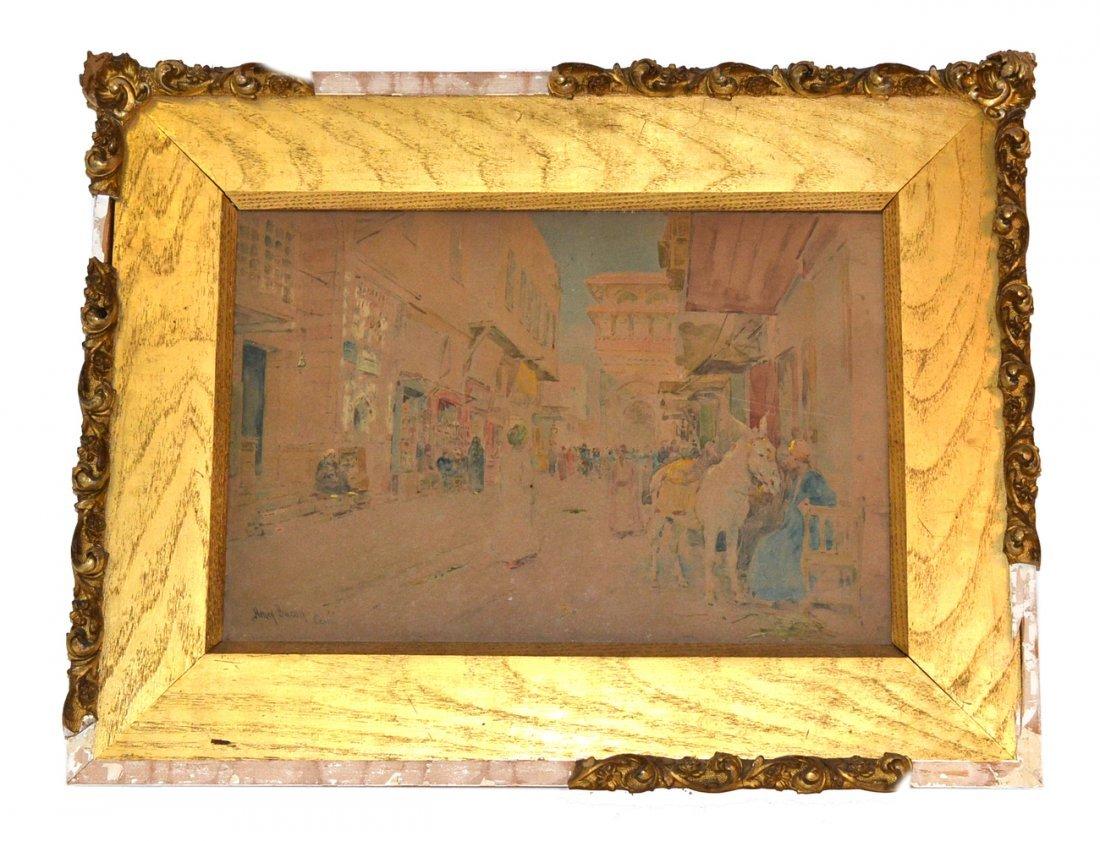 "Henry Bacon, Watercolor - ""Cairo"""