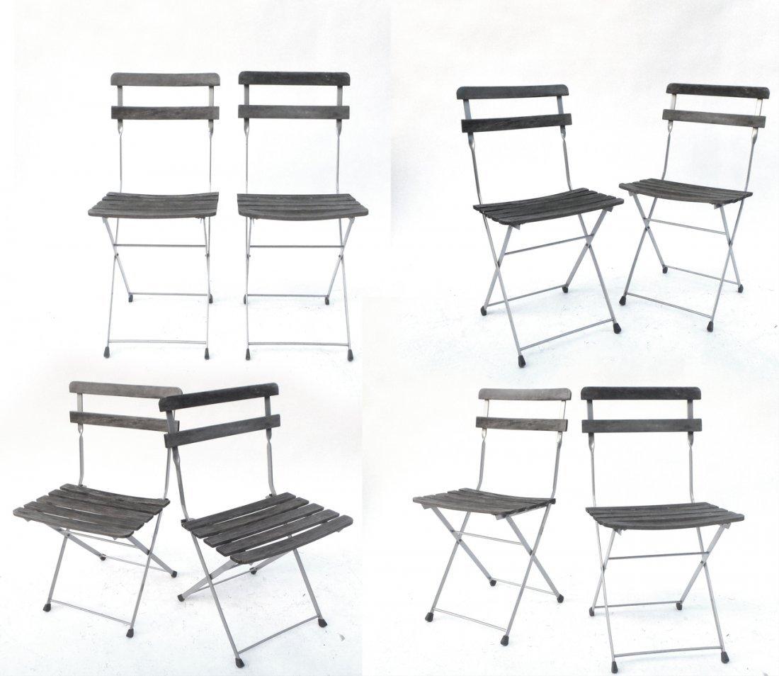 Set of Eight Slat Chairs