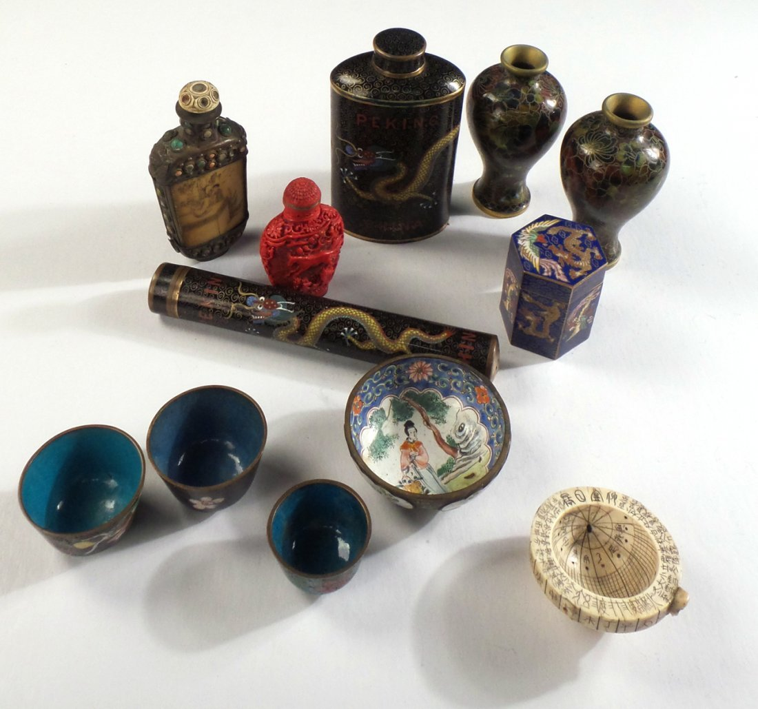 Group of Chinese Cloisonn & Other Items