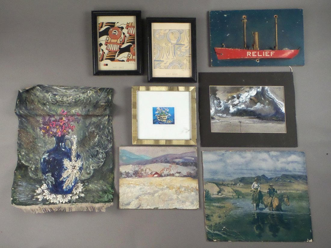 Eight Assorted Small Works of Art