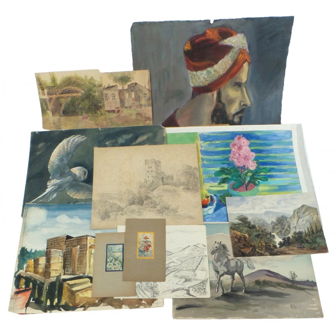 12 Assorted Works of Art