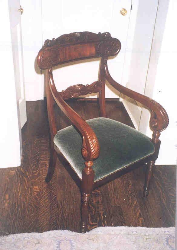 Early 19th Century Italian Walnut Chair