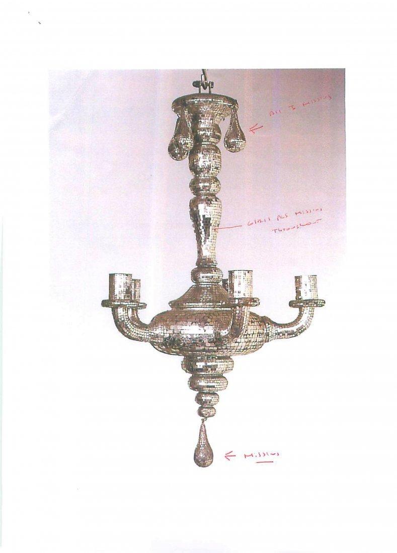 Silver-Mirrored Chandelier