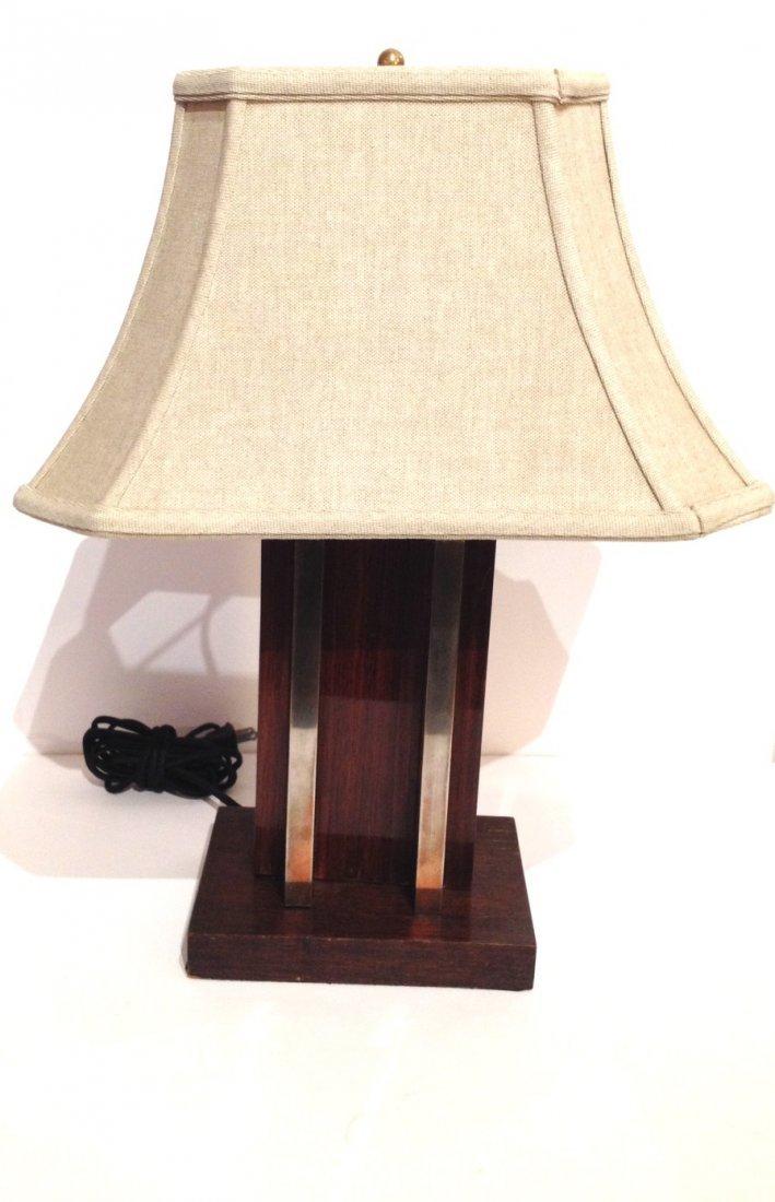 Art Deco Lamp, wood and metal