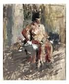 Abstract Figure Oil on Carton