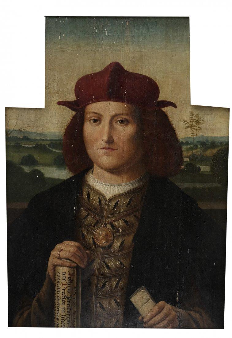Folk Art-Style Portrait