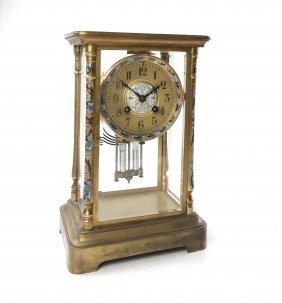 French Bronze Regulator Clock