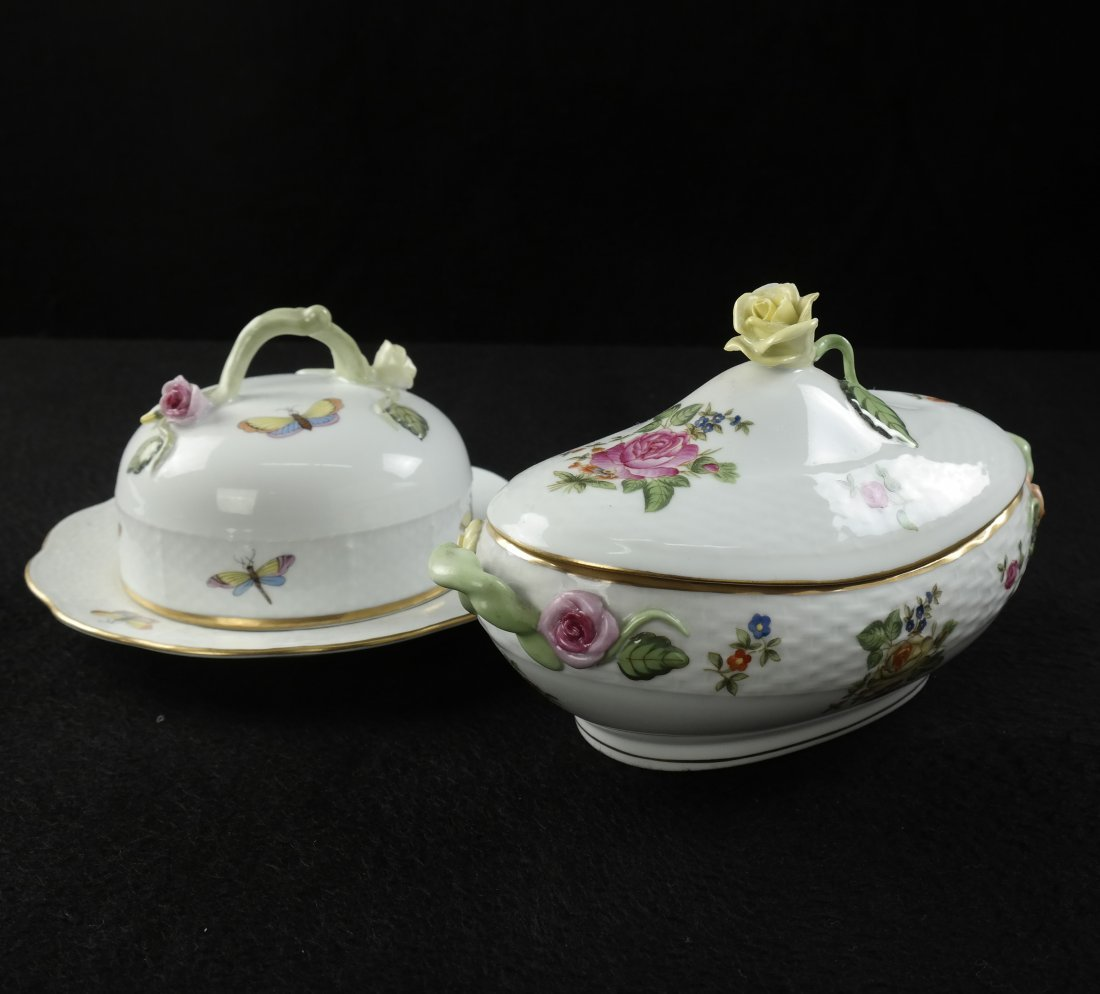 Herend Tureen and Butter Dish